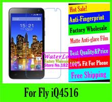 Matte Anti-glare Anti-Fingerprint mobile protective film to phone screen protector de pantalla guard film For Fly iQ4516