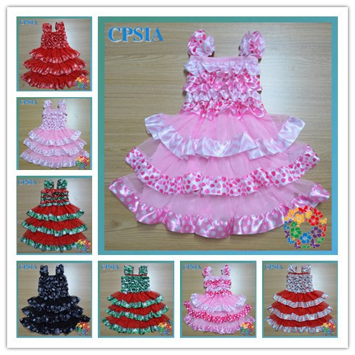 Cute Newborn baby dresses bonnie hot sale baby dresses New arrival one year baby party dresses -24pcs/lot08(China (Mainland))