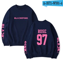 Korean Girl Group BLACKPINK Sweatshirt Name Print Women Capless Pullover KPop HipHop BLACKPINK Idol Shirt Lisa Rose JISOO(China)
