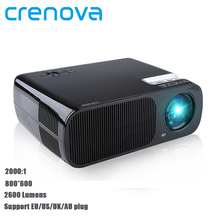 Crenova XPE600 1080P HD 3D Projector 2600 Lumens 5.0 Inch LCD TFT Display Home Cinema Projector(China (Mainland))