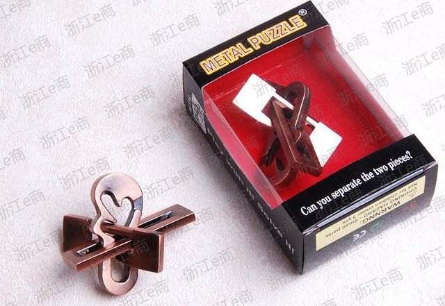New Arrived  IQ Puzzle Metal Brain Teaser Puzzle toys Bar toys Game