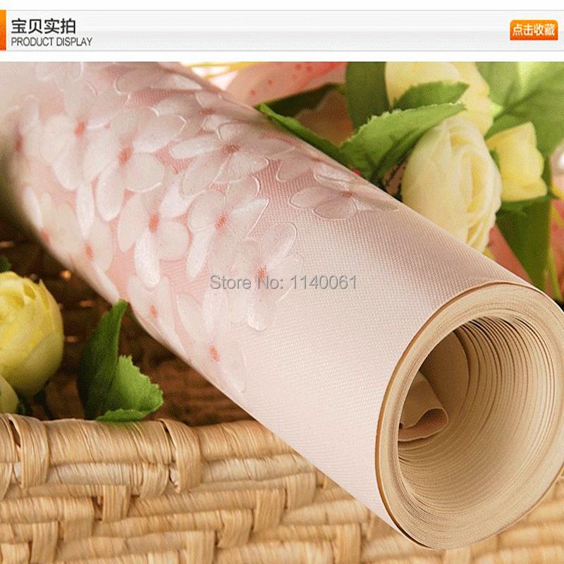 luxury vinyl wallpaper,living room bedroom home decor flower pink green floral wallpaper roll  -  DZAS Store store