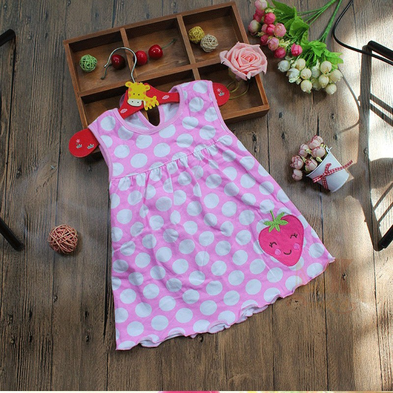 Monkids Summer Baby Girl Dress Princess 0-1 Year Birthday Infant Girl Dot Newborn Dresses Baby Girls Cutton Clothes 2016 New