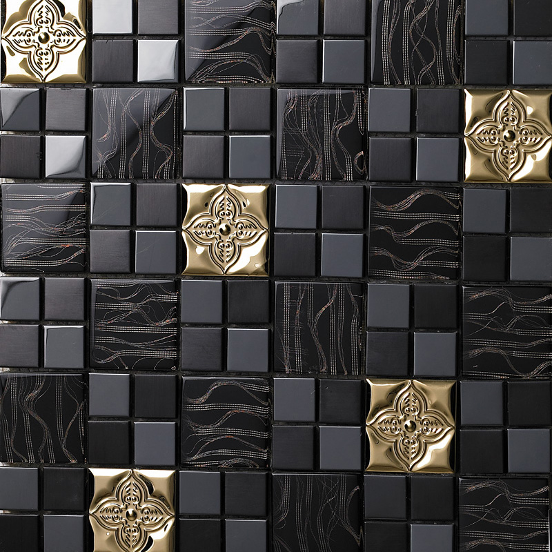 Wonderful Tst Glass Kitchen Wall Metal Tile Black Backsplash Design Metal Wall Tiles  For Kitchen