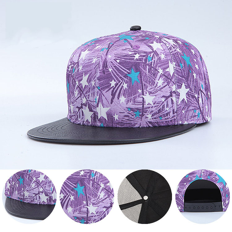 New 2016 Color Printing Star Flat Along Hat Both Men And Women Hip-Hop Cap Baseball Cap(China (Mainland))