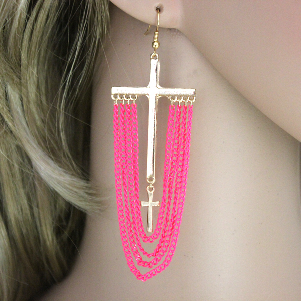 2013 the latest Hot fashion exaggerated chain tassels drop earrings party