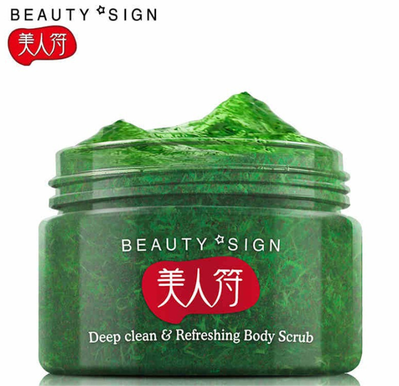 Meirenfu Cucumber,Almond ,Shea Butter peeling skin whitening and moisturizing body rub mud exfoliating scrub body care 120g C122