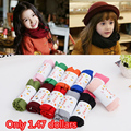 2016 New cotton baby scarf Cute children scarves kids O ring collar Autumn Winter boys and