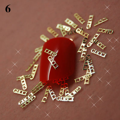 T6 800pcs/lot 2014 Popular Gold Metal nail Art Fashion Nail Sticker Star Design wholesale nail art studs Nail gel accessories(China (Mainland))