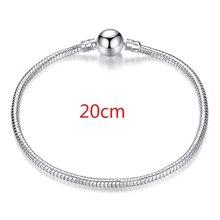 2019 gorący srebrny miłość wąż łańcuch Fit oryginalna bransoletka urok koralik biżuteria prezent dla kobiet mężczyzn 16-21cm XCH1092(China)
