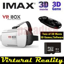 Google cardboard VR BOX Version Virtual Reality Glasses + Bluetooth Mouse / Remote Gamepad / Camera Shutter+ 8GB 3DGame 3D Movie