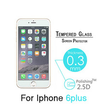 500pcs/lot For iphone 6 plus/6S PLUS Tempered Glass Screen Protector Toughened protective Anti-shatter Explosion Proof film