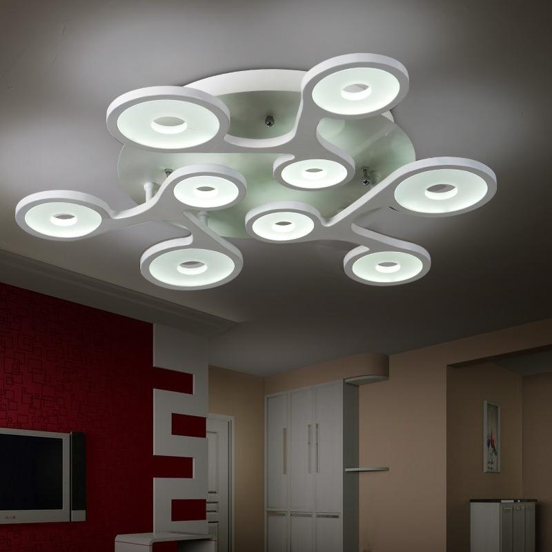 flush mount modern ceiling light for living room circular acrylic light guide plate lamparas techo ceiling avize Home Lighting(China (Mainland))