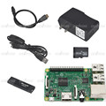 Raspberry Pi 3 Model B HDMI cable 16GB TF Card w card reader Power Cable with