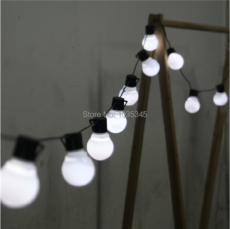 Novelty 5CM big size 38 ball 10M LED String Black wire Starry Lights Christmas Wedding indoor outdoor Decor Lighting - SUNWAY OPTOELECTRONIC CO., LTD store