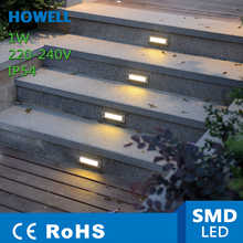 HOWELL 1W LED STEP LIGHTS WALL LAMP High Powered Super Bright Patio Deck Yard Garden Home Porch CE RoHS(China (Mainland))