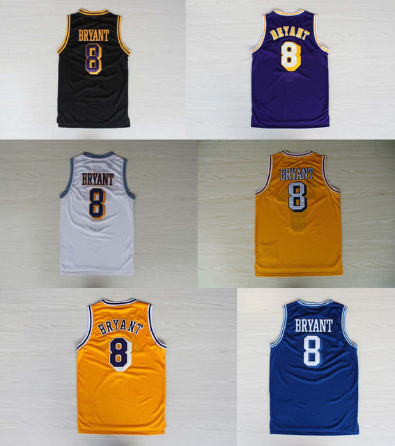 Aliexpress.com : Buy Kobe Bryant Jersey #8 Basketball Yellow Blue