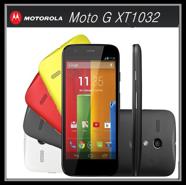 Original Unlocked Motorola Moto G XT1032 Mobile Phone Quad core GPS 3G 5MP 16GB ROM 4.5inch IPS Refurbished Android Smartphone(China (Mainland))