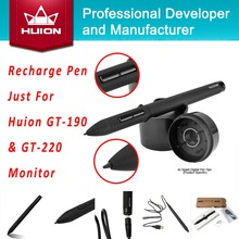 Huion New Monitor Recharge Pen Touch Screen Stylus Auto Sleep Wireless Rechargeable Pen for GT-190 GT-220(China (Mainland))