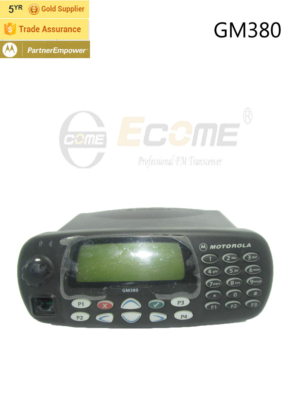 255 CH Dual Band Vehicle Mouted Radio Motorola GM380(China (Mainland))