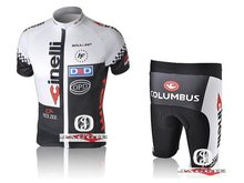 3D Silicone!!! CIL short sleeve cycling wear clothes bicycle/bike/riding jersey+pants shorts(China (Mainland))