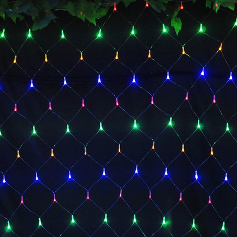 Colorful 2*2m 144 LED Net Light/Red de la lampara Christmas Lights/Wedding/Party Decoration OUTDOOR LED Lighting Waterproof(China (Mainland))