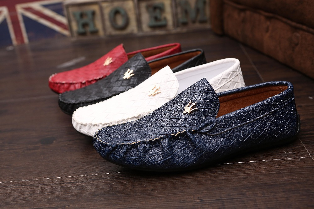 2015 New men's fashion boat shoes casual leather s...