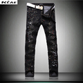 High Quality Wolf Jeans Men 2016 New Designer Skinny White Pants Elastic Denim Overall Slim Fit Casual Mens Clothing Size 28-38