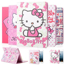 High Quality Super PU Leather Tablet Case For Apple iPad Mini 1 2 3 Hello Kitty Protective Sleeve Stand Cover Wake Up & Sleeping(China (Mainland))
