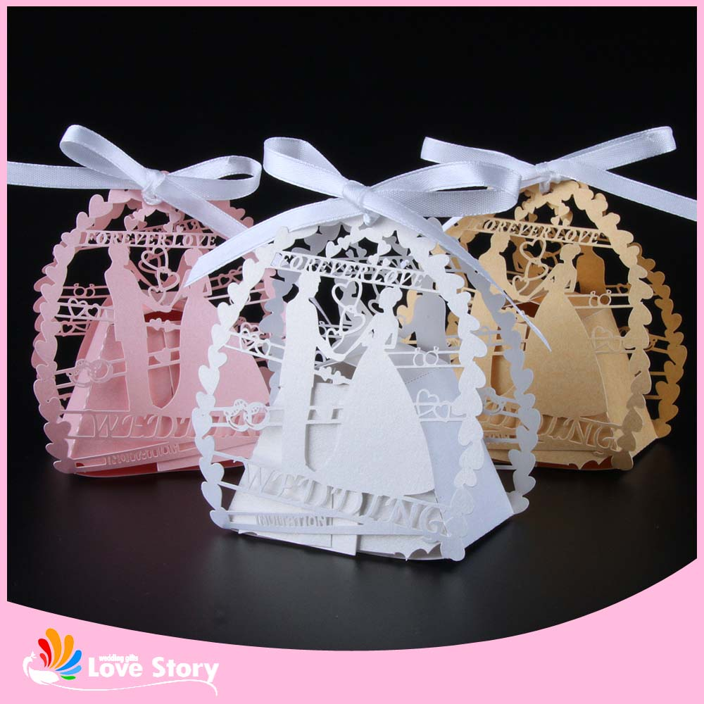 Wedding Favor Boxes For Chocolates : Laser Cut Wedding Favor Box Candy Box Gift Box Wedding Favors Wedding ...