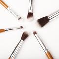6Pac Bamboo Handles Environmental Protection Eye Brush Set Eye Shadow Brush Eye Socket Brush Eye Brush