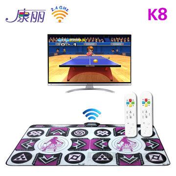 Kangli k8 wireless game machine computer tv dual wireless double handle thickening blanket dance tv game console(China (Mainland))