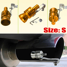 2015 New size S Gold Exhaust Fake Turbo Whistle Pipe Sound Muffler Blow Off Valve Bov M/L/XL also available(China (Mainland))