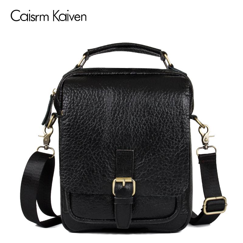 new men's 100% leather designer handbag the best men's shoulder bag multi-layer pocket handbag free shipping Buy 1 get 3(China (Mainland))