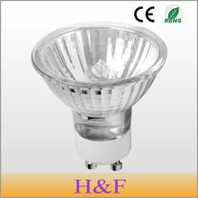 10pcs/lot Dimmable GU10 Halogen Lamp Bulb 50mm 220V 35W 50W 70W Crystal Halogen GU10 Warm White Quartz Glass Indoor Decoration(China (Mainland))