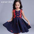 Value Kids girl birthday dress beautiful Rose flower children's dresses for girls 4 years party dress for baby girl summer NQ-63