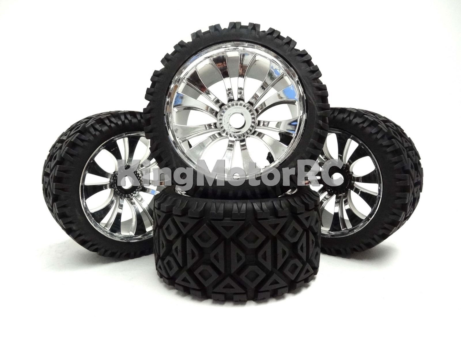 New King Motor T2000 Truck All Terrain Wheels Tires Fit HPI Baja 5B 5T 2.0 Rovan free shipping(China (Mainland))