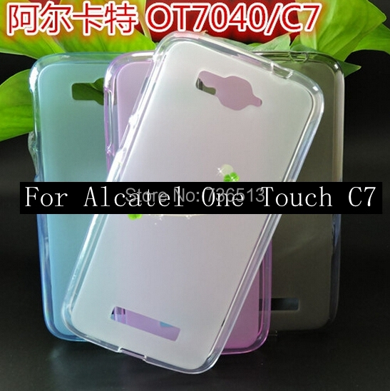 200pcs DHL/Fedex Free shipping for alcatel C7 Matte Pudding Soft TPU Gel Skin Case For Alcatel One Touch Pop 7040 7040D OT7040(China (Mainland))