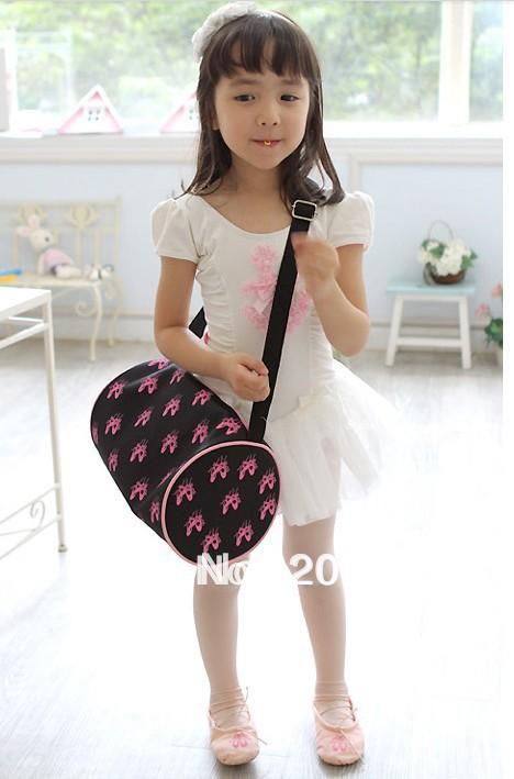 black 4-15 year girl ballet bag,girls makeup bag,kid haversack,kid's Acrobatics special package,Free freight - jackie Children's stores store