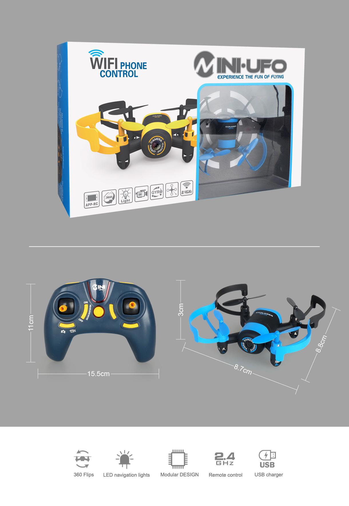MIni Drone With Wifi FPV Camera JXD 512W 2.4Ghz UFO Mini One-Key-return & Headless Mode RC Quadcopter Drone VS CX-10W