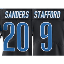 Men's #9 Matthew Stafford #20 Barry Sanders Black Color Rush Limited Free Shipping(China (Mainland))