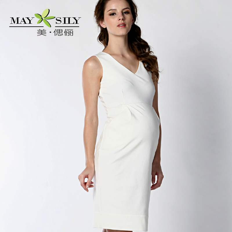 Maysily 2014 summer new v neck vest dress maternity dresses clothes