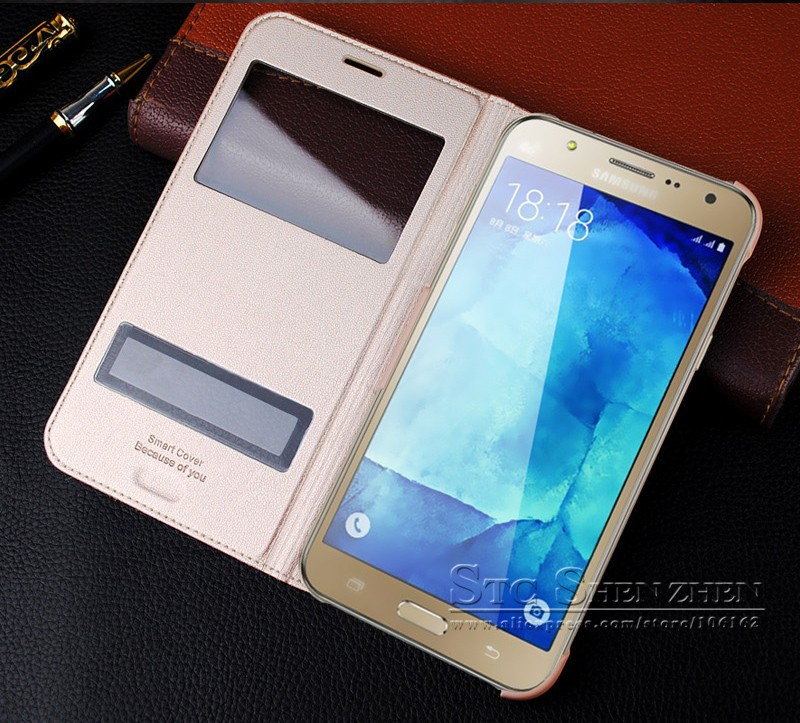 Luxury Leather Flip Case For Samsung Galaxy J7 J700h Smart  Cover phone coque (7)