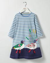 הכי חדש תינוקת שמלה עם חיות נסיכה ארוך שרוול שמלות ילדי סתיו בגדים לילדים(China)