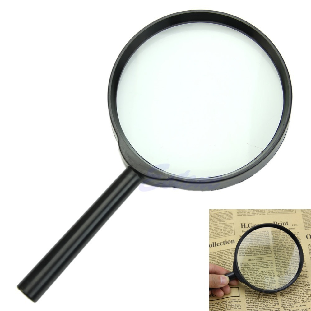 A96 Free Shipping 5X 100mm Hand Held Reading Magnifier Magnifying Glass Lens Jewelry Loupe Zoomer