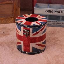 Продажи высокая — конец цилиндрический европейский союз джек ткань коробка салфеток коробка creative ретро автомобиль насосная лоток
