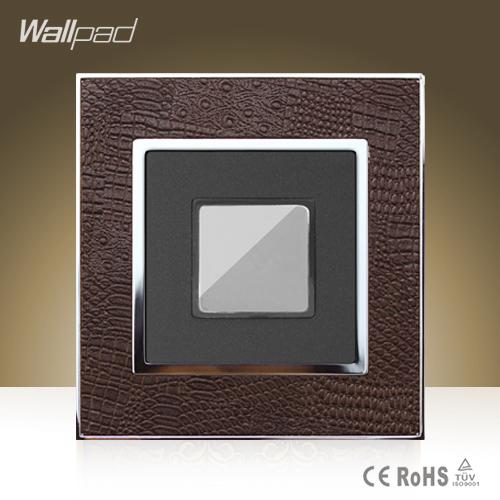 Free Shipping, Touch Delay Switch, Wholesaler Wallpad Luxury Leather Panel, UK Lamp Switch, Wall Light Switch(China (Mainland))