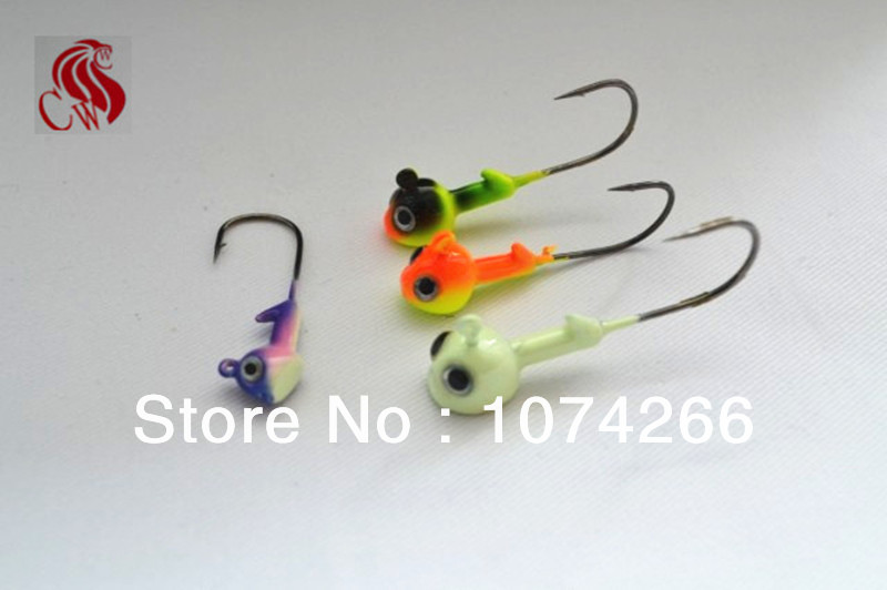 free shipping the outdoor Bass Pro Shops 3.5-14 g lead head hook fishing gear accessories hook.(China (Mainland))