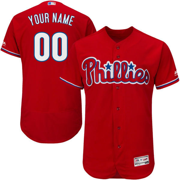 MLB Philadelphia Phillies Alternate Collection Custom Jersey Cool Base Player Baseball Jersey with Stitched(China (Mainland))
