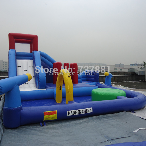 Commercial use inflatable water slide water park with - Commercial swimming pool water slides ...